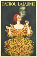 Vintage édesség mentol cukorka plakát reprint nyomat Cappiello negró színes tarka ruhás nő vörös haj