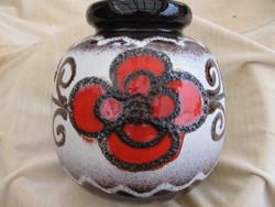Retro Scheurich W.Germany virágos váza