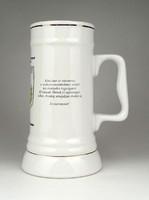 1D769 Bányász porcelán söröskorsó 19 cm
