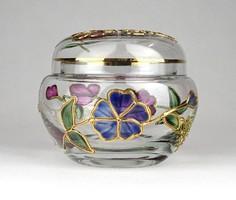 1D570 Kézzel festett üveg ékszertartó bonbonier