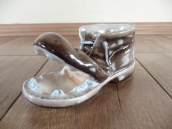 Ritka Zsolnay reklám porcelán cipő