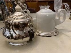"""Gyönyörű teás kanna, hőtartó ezüst ( színű) """"külső termosz"""""""