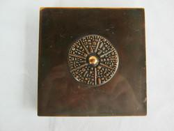 Jelzett Kopcsányi Ottó iparművész bronz doboz