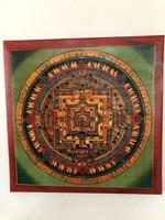 Kézzel festett mandala buddhista kolostorból