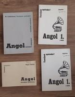 Angol nyelvkönyvek + magnókazetták