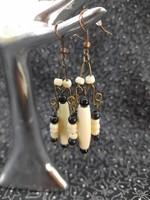 Wire-bone earrings - handcrafted jewelry