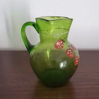 Huta, szakított üveg kis kancsó