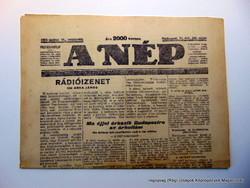1924 május 15  /  A NÉP  /  Régi ÚJSÁGOK KÉPREGÉNYEK MAGAZINOK Ssz.:  15935
