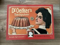 Dr. Oetker hatalmas fém Retró doboz láda patika állapotban