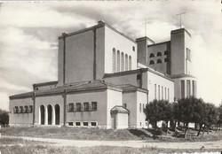 Retro képeslap - Csorna, Jézus Szíve Római katolikus templom