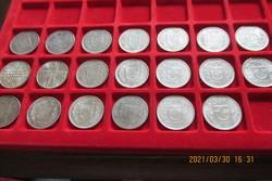 20 db különböző ezüst svájci 5 frankos egyben