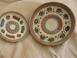 Horezu kerámia tányérok