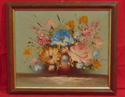 'Színkavalkád' - Gyönyörű színekkel megfestett csendélet hozzáillő keretben