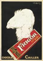 Csokoládé hirdetés, jegesmedve, Leonetto Cappiello. Vintage/antik reklám plakát reprint