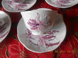 Zsolnay Orchidea mintás kávés csésze