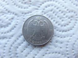 Jugoszlávia ezüst 20 dinár 1938