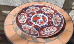 Gyönyörű kézi festett kînàló Asztalközép porcelán Keleti stílusban készült, Kína Japàn Àzsia Anglia
