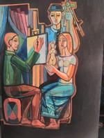 Józsa János festőművész Triptichon első része