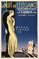 Vintage art deco francia divat ruházat reklám plakát reprint nyomat parti estély elegáns nő ruha