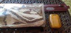 Retro utazó pipere csomag tüneményes szappantartóval- 30- 40 éves