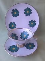 Bavaria zöld virágos, tányér, csésze, reggeliző készlet ( 3 db)