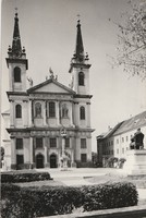 Retro képeslap - Szombathely, Püspöki székesegyház