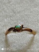 14k opál köves arany gyűrű (57)