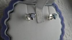 Tanzanit 925 ezüst fülbevaló