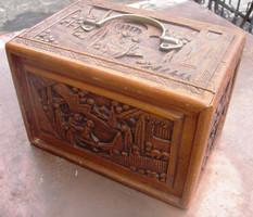 SZ5 Antik Mahjong családi régi kínai társasjáték