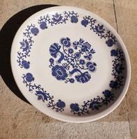 Hibátlan pávás alföldi porcelán disztányér