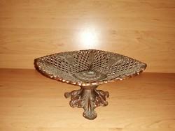 Talpas réz kínáló asztalközép (KV)