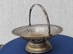 Àttört kinàló , Asztalközép zenélő szerkezet működik, ezüstözött réz.Dekoratív ,ajàndéknak Nàszajànd
