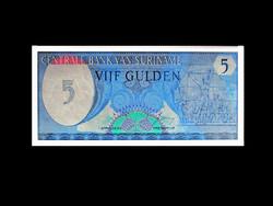 UNC - 5 GULDEN - SURINAME - 1982