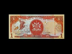 UNC - 1 DOLLÁR - TRINIDAD ÉS TOBAGO - 2002 - Nagyon szép!