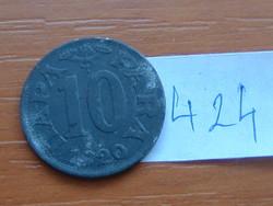 SZERB HORVÁT SZLOVÉN KIRÁLYSÁG 10 PARA 1920 (v) VIENNA ZINC #424