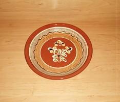 Retro mázas kerámia falitányér 23  cm (n)