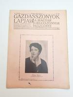 Régi újság 1925 Gazdasszonyok lapja A magyar uriasszonyok közlönye