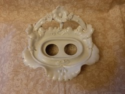Hibátlan antik virágos porcelán szappantartó