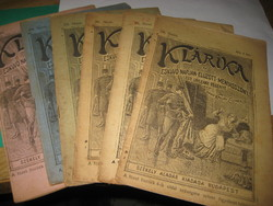 KLÁRIKA   , antik kisregény sorozat   6 db . Írta  báró Kállay Elemér  az esküvő napján ,