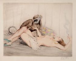 P. Emile Felix (1851-1932): Akt majommal.