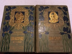 Shakspere remekei 2.4. Kötet.(1903)Remekírók képes könyvtára!Lampel Róbert cs,és kir könyvkereskedés