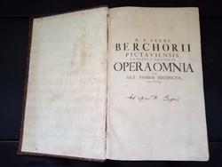Ritka Antik Folió ( 39 cm ) Latin Könyv 1730-ból