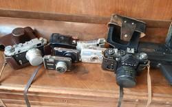 Retró fFényképezőgép-gyűjtemény eladó, FED-2, zenith, smena, olympus, stb