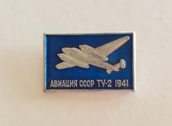 Régi orosz repülős kitűző