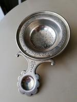Ezüst porcukor szóró,, teaszűrő 800 as diannás.
