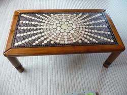 Bod Éva iparművész kerámia betétes retro asztal