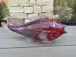 30 cm-es Muranoi üveg hal