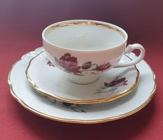 Kahla porcelán reggeliző szett 3 részes (csésze, csészealj, kistányér)