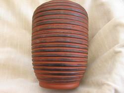Silberdistel barna-fekete váza