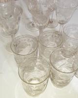 3 üvegpohár készlet + 1 Hollóházi csesze készlet